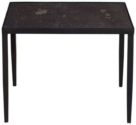Triton Square End Table Aged Iron Finish