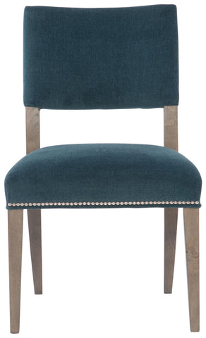 Moore Side Chair Fabric B799010 Portobello Finish Upholstered Seat And Back With Welt And Nailhead Trim