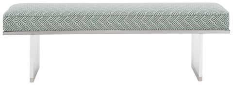 Laguna Bench Fabric 2743-044 Gr Z Finish Metal