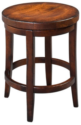 Antiquity Cherry Milano Swivel Stool 24 Inch With Wood Seat