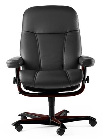 Consul Office Chair In Batik Black Wenge Finish