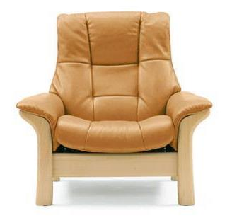 Buckingham Hi Back Chair 1185010 Leather 094 Paloma Color 15 Light Gray Finish 03 Brown