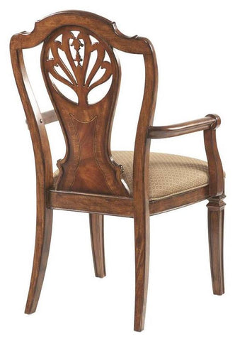 Arm Chair Splat Back , 1111-14 New Delhi Beige