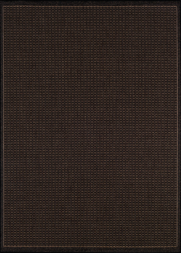 2X3.7 Recife Saddlestitch Black/Cocoa 1001/2000 Indoor Outdoor Rug