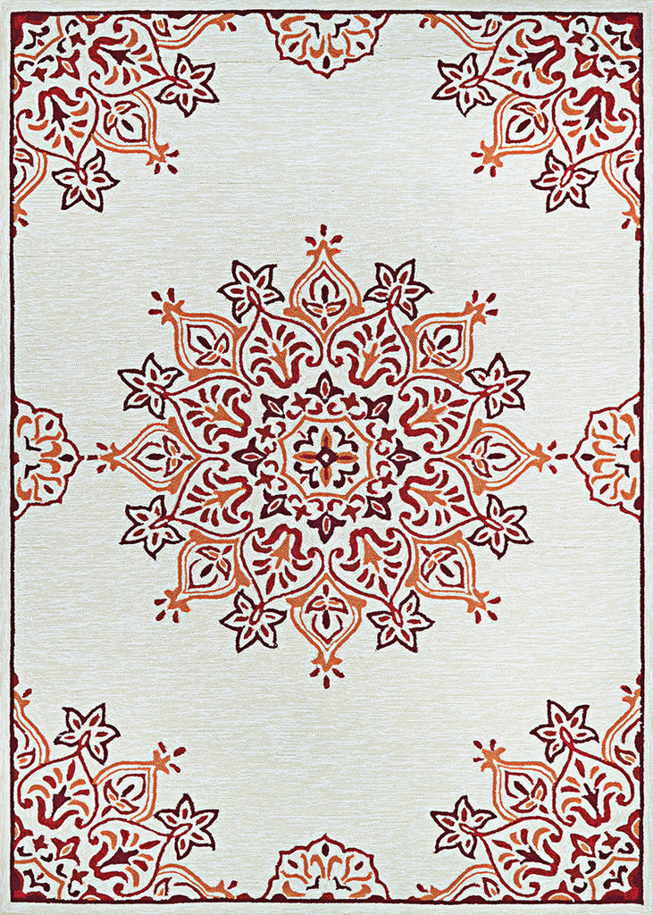 2X4 Mystic Garden Covington Rug Color C027 Sand Red