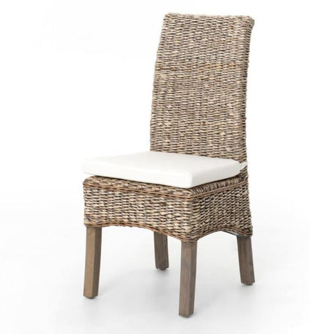 Banana Leaf Chair With Cushion Grey Wash