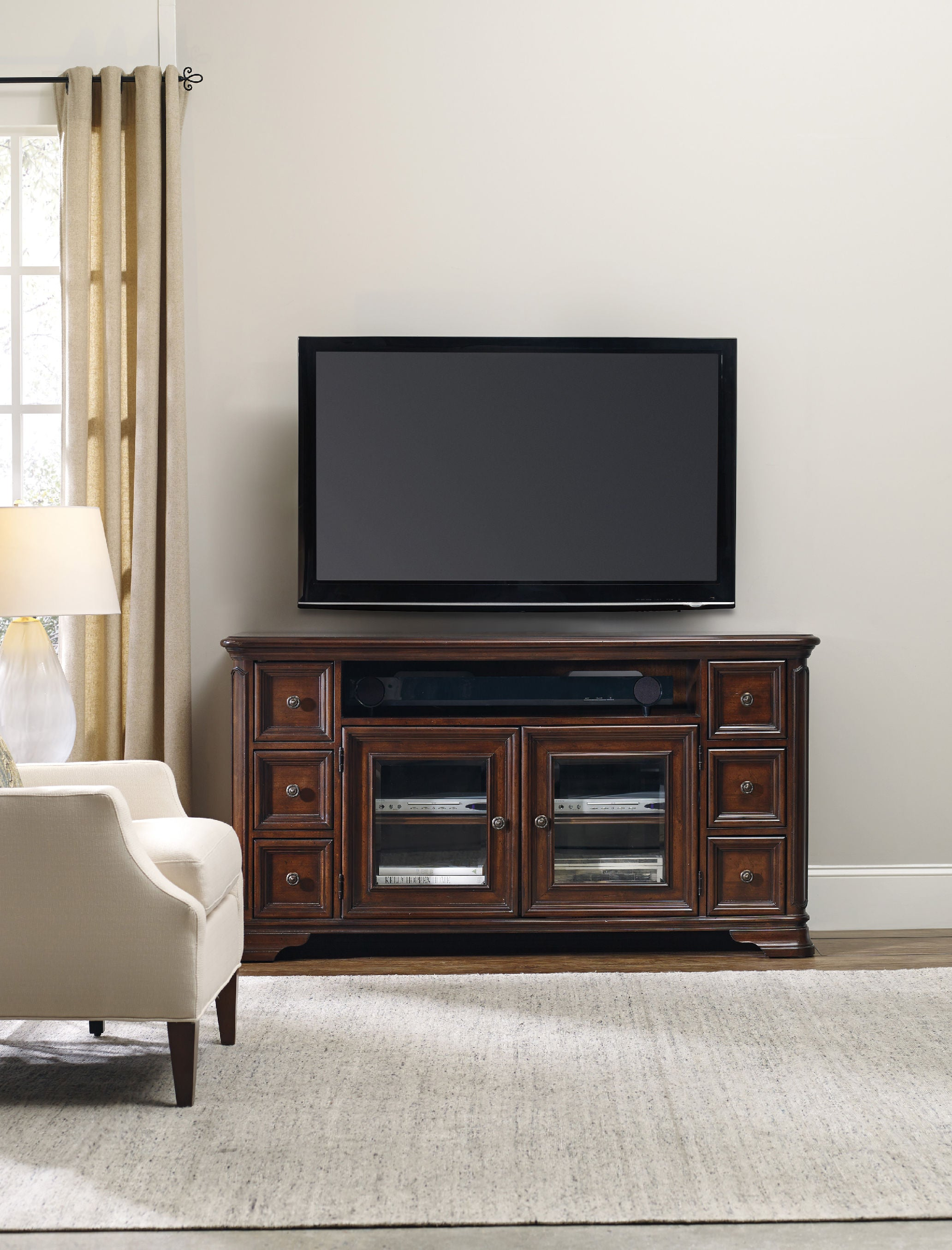 ... Hooker Furniture Home Entertainment Haddon Hall Entertainment Console  64 In ...