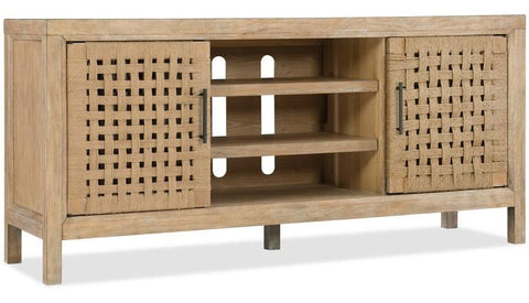 64 In Woven Door Entertainment Console