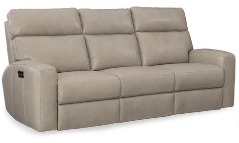 Mowry Power Motion Sofa With Pwr Hdrest Cream Leather