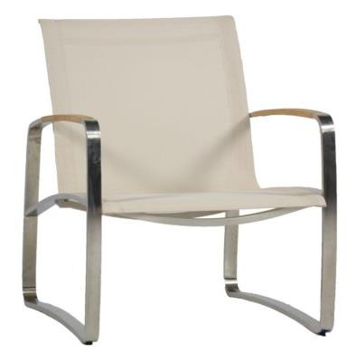 Delray Woven Lounge Chair Finish Slate Gray