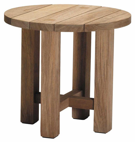 Croquet Teak End Table Finish Oyster