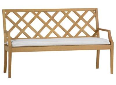 Hayley 60 Inch Bench In Logan Baltic Gr B No Welt Finish Natural Teak