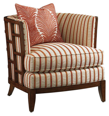 Abaco Chair 1506-11 Cover 4213 Color 71 Grade 4 With Contrast Toss Pillows In 4172-71 Grade 5 Standard Finish