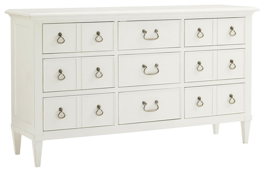 Grotto Isle Dresser with a Parchment White Finish
