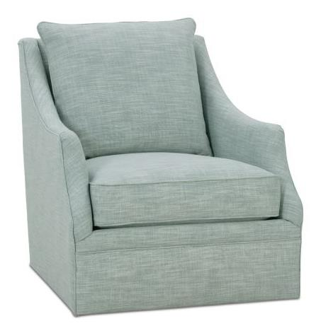 Allen Swivel Chair Fabric S-11726-04 Cushion Lisa Down Blend