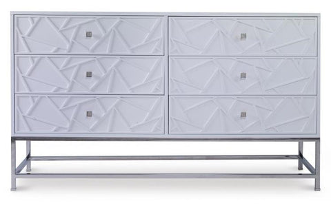 Details Tall 6 Drawer Dresser Foot Option Tapered Drawer Option Bead Edge Hardware Accessory Acrylic Pull Hardware Finish Antique Brass Hardware Placement Single Placement Finish Chalk White 603 Finish Area Entire Case