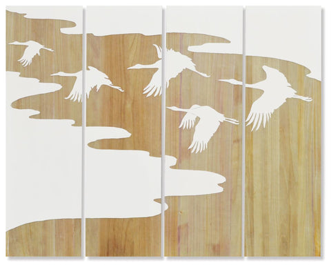 Flying Birds Wall Decor Set Of 4