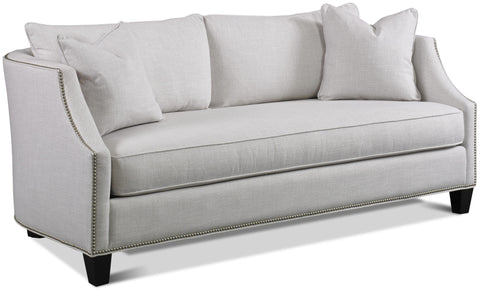 Arden Apartment Sofa In Darling Natrual Grd 9 Platinum Nails Luxury Spring Cushion Finish Walnut