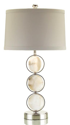 Caged Alabaster Discs Lamp Shade