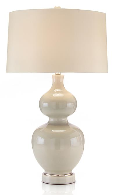 Pale Aqua Double Gourd Lamp Shade