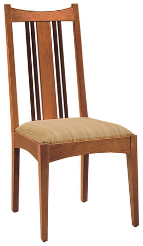 Side Chair In Fabric 4111 Color 19 Grade F And In Finish #14 Saratoga