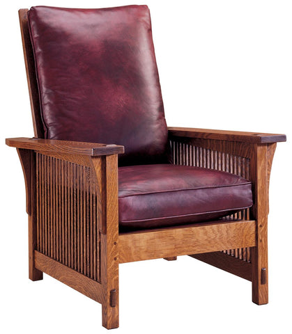 Small Spindle Morris Chair Finish 032 Onondaga Fabric 5367-45 Gr E