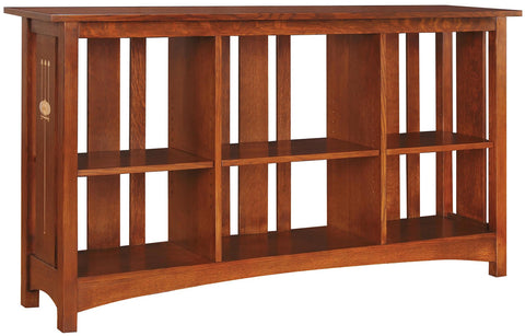 Slatted Back Bookcase Finish 501 Sand