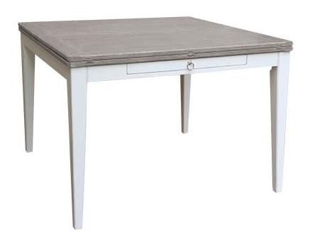 Easton Square Dining Table Top Finish Rw Riverwash Base Finish 15 White