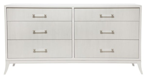 Williams Tall Dresser Clean Face Satin Brass Crescent Bail Pull Hardware In 2 Columns Saber Leg Finish Moonshadow