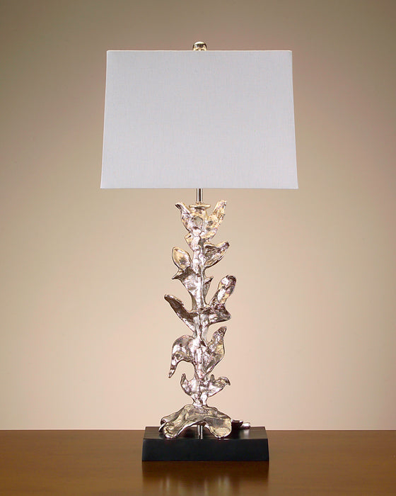 Silver Plated Stylized Leaves Lamp Shade