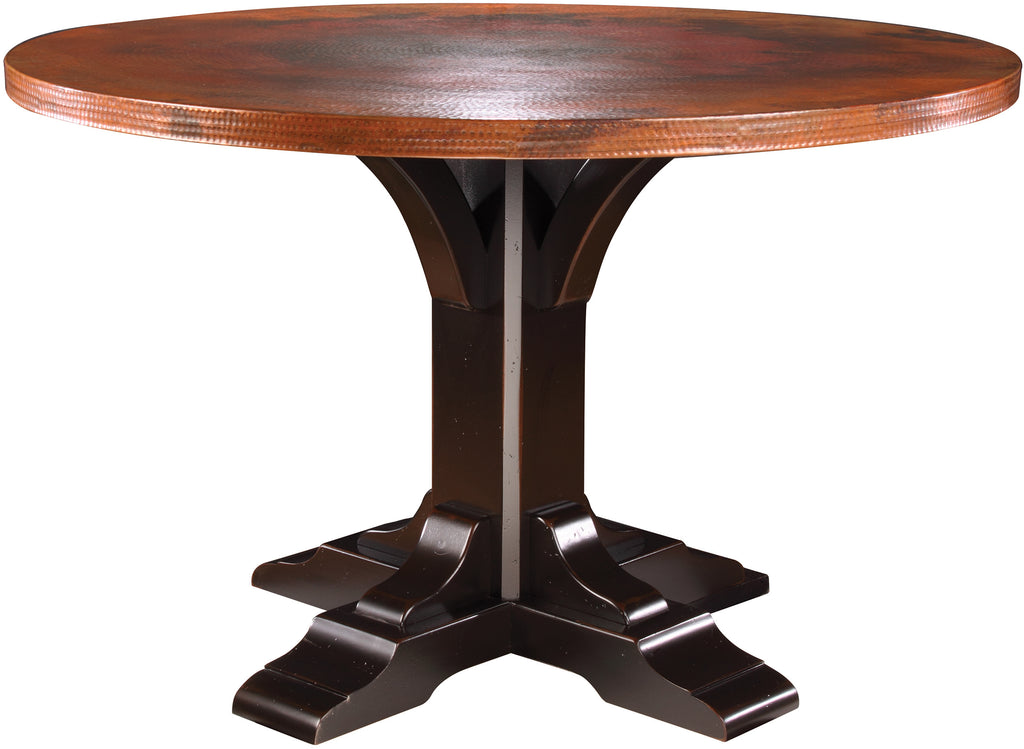Bristol 54 Inch Copper Top Pedestal Table
