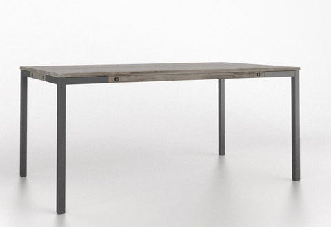 East Side Dining Table Top Color 81 Mist Grey Washed Legs Ea Edge N