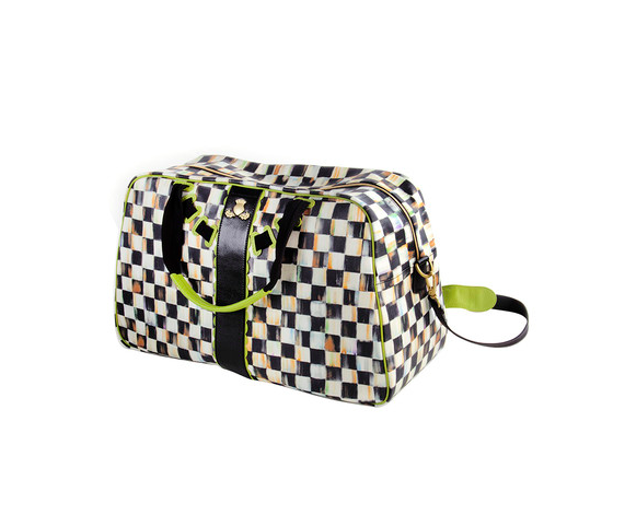 MacKenzie-Childs Courtly Check Duffel Bag - Chartreuse