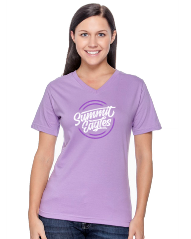 Ladies Lavender V-Neck