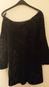Vintage unique knitted black sweater (SOLD!)