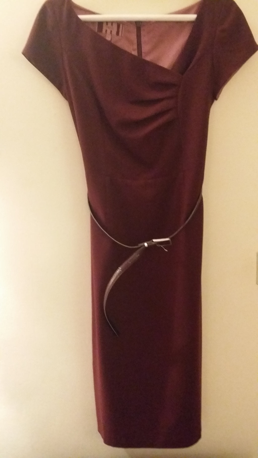 FREE Vintage burgundi dress with belt