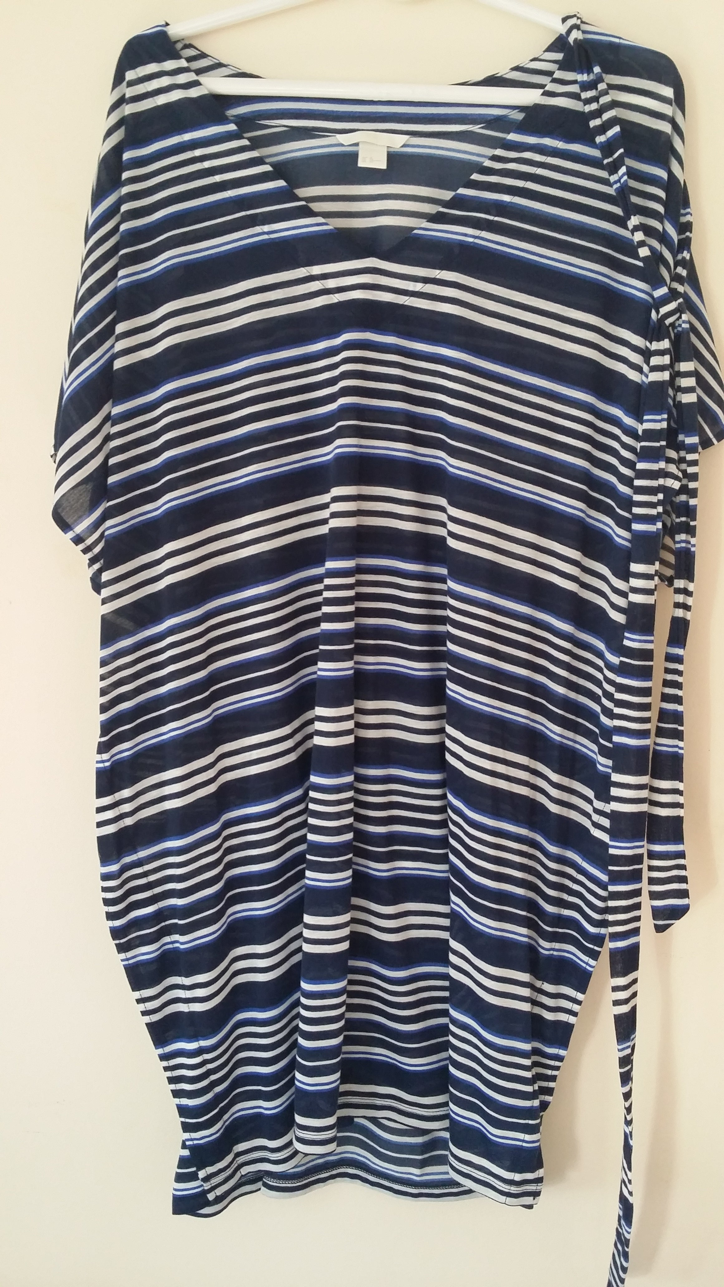 Vintage blue white striped blouse (SOLD!)