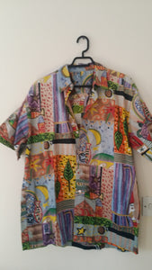 Colourful women's cotton blouse