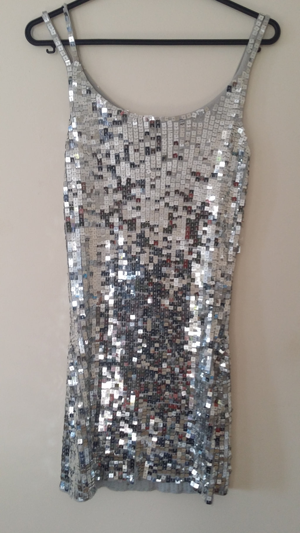 silver glittery party shirt
