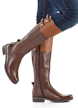 Fashionable Leather Riding boots