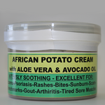 5x African Potato Cream, relieves pain & skin conditions.