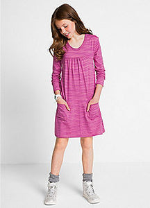 Girls pink dress with pockets