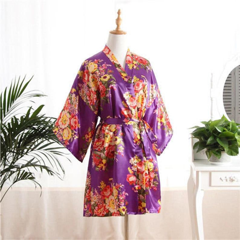 Floral kimono robes! Cotton, several colours, Worldwide delivery.
