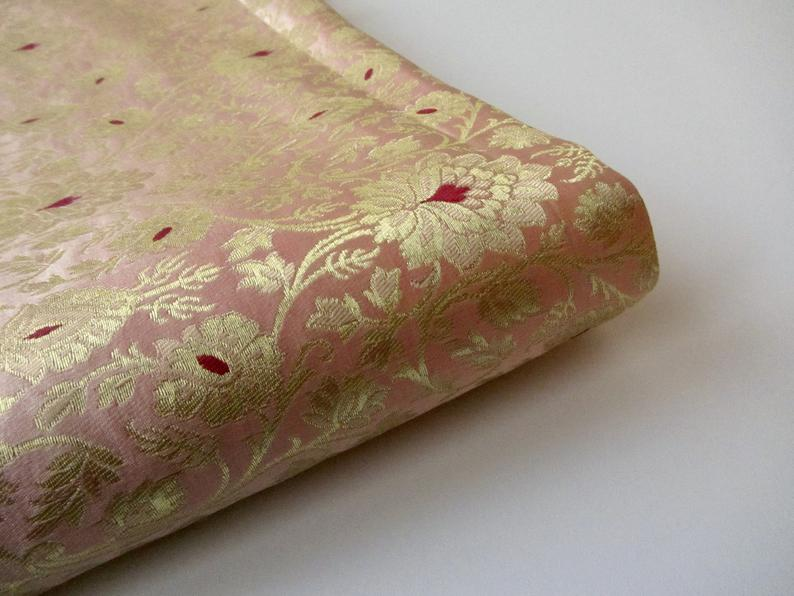 Indian Silk 'Kinkhab' Brocade Fabrics for sale! Worldwide delivery