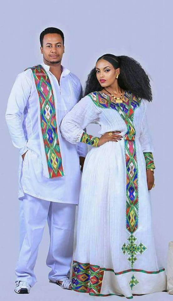 Ethiopean fashion for couples! Worldwide delivery