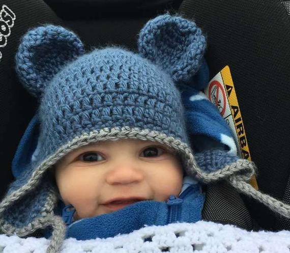 Nice Baby & kids hat with ears, UK & worldwide delivery