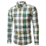 Men Plaid shirt, Green, FREE worldwide delivery