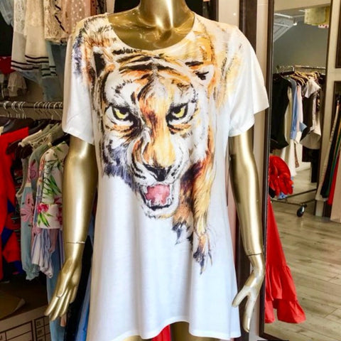 Plus Size Tiger Face Tee