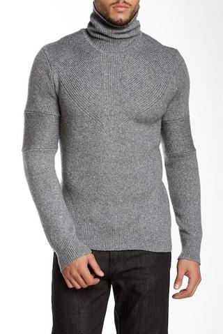 Turtleneck Wool Blend Sweater