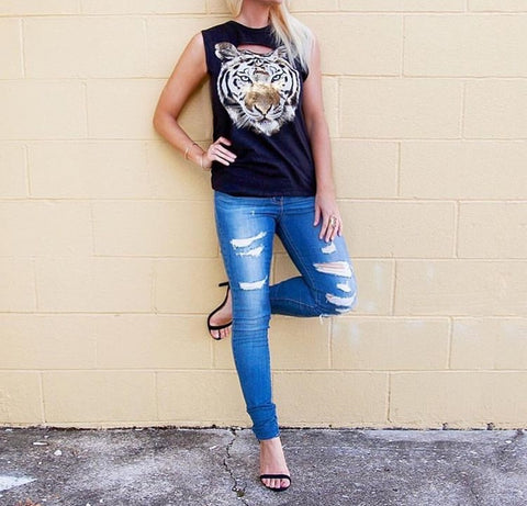 Tiger Sleeveless Top